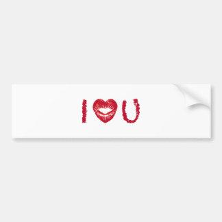 Te amo con los labios rojos del corazón pegatina para auto