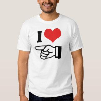 Te amo - con señalar el dedo camisas