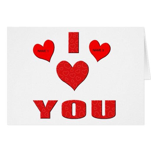 Te amo con todo mi corazón tarjeton