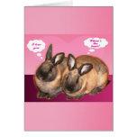 Te amo conejos de conejito de la tarjeta del día d