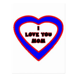 Te amo corazón azul de la MAMÁ los regalos de Tarjeta Postal