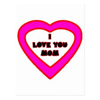 Te amo corazón magenta de la MAMÁ el soldado Postales