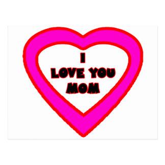 Te amo corazón magenta de la MAMÁ el soldado Tarjetas Postales