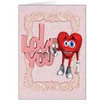 Te amo corazón tarjeta