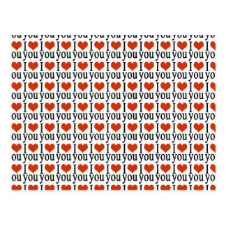 Te amo - corazón tarjetas postales