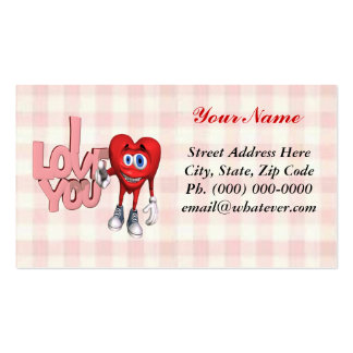 Te amo corazón tarjetas de visita