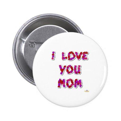 Te amo corazones del caramelo de la mamá pins