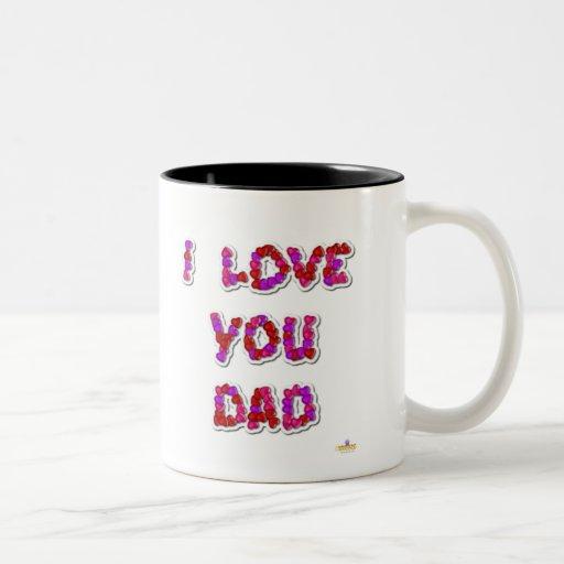 Te amo corazones del caramelo del papá taza de café