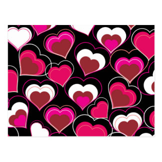Te amo corazones rosados y blancos tarjeta postal