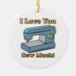 Te amo cosa mucho adornos de navidad