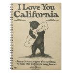 Te amo cuaderno de California