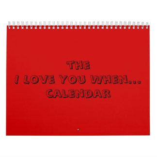 te amo cuando… calendario