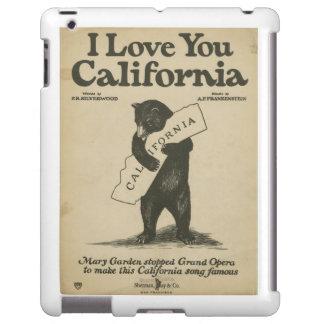Te amo cubierta del iPad de California