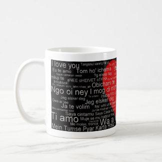 Te amo de alrededor del mundo taza de café, taza,