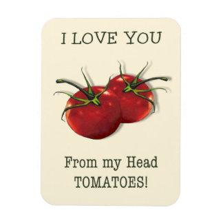 Te amo de la cabeza a los dedos del pie: Tomate, Iman De Vinilo
