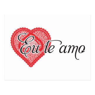 Te amo del Eu (portugués) Postal