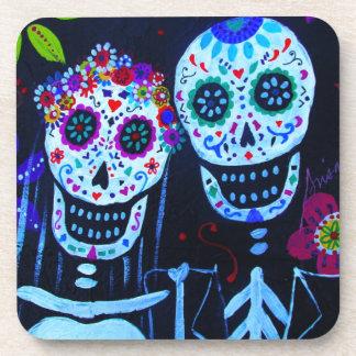 Te amo Dia de los Muertos Wedding Drink Coaster