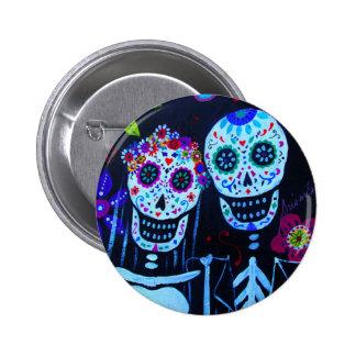 Te amo Dia de los Muertos Wedding Pinback Button
