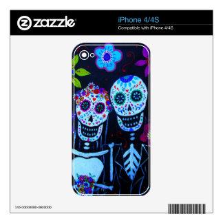 Te amo Dia de los Muertos Wedding Skin For iPhone 4S