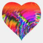 """""""Te amo"""" diseño abstracto Calcomanías Corazones Personalizadas"""