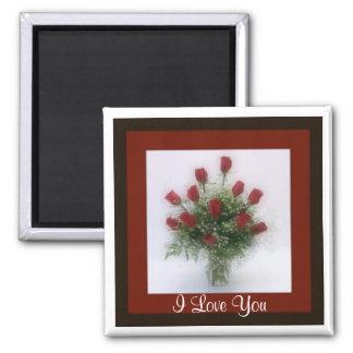 Te amo docena tarjetas del día de San Valentín rom Imán Cuadrado