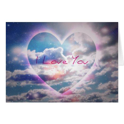 Te amo el corazón se nubla la tarjeta
