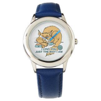 Te amo el decir gráfico del gato divertido relojes de pulsera