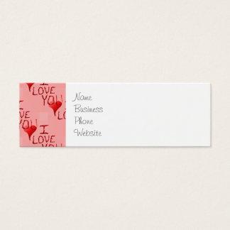 Te amo el día de San Valentín Handdrawn lindo del Tarjetas De Visita Mini