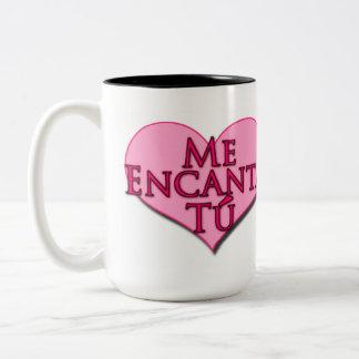 Te amo en español taza de dos tonos