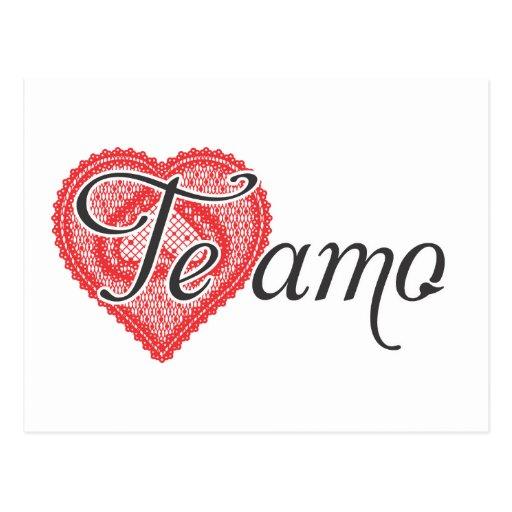 Te amo en español - Te amo Postal