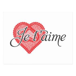 Te amo en francés - t'aime de Je Postal