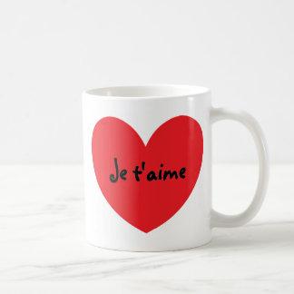 """""""Te amo"""" (en francés) taza"""