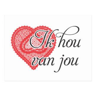 Te amo en holandés - Ik hou van jou Postal