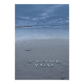 Te amo en la playa invitacion personal