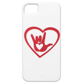 Te amo en lenguaje de signos (con todo mi corazón) funda para iPhone SE/5/5s