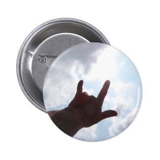 TE AMO en lenguaje de signos Pin Redondo 5 Cm