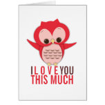 Te amo esta mucha tarjeta del búho