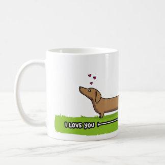Te amo ESTE mucho [dachshund rojo] Taza
