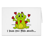 Te amo este mucho… tarjeta de felicitación