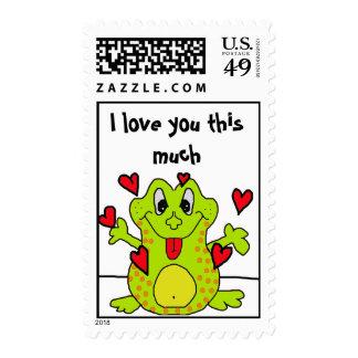 Te amo este mucho timbre postal
