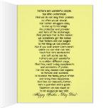 Te amo fiesta de la celebración del día de padre tarjeta de felicitación grande