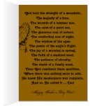 Te amo fiesta de la celebración del día de padre tarjeta pequeña