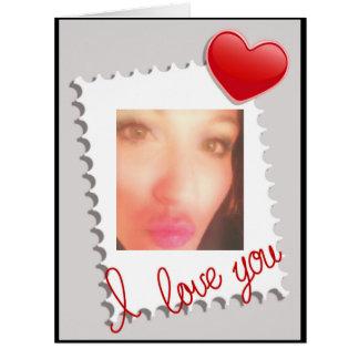 Te amo foto del el día de San Valentín Tarjeta De Felicitación Grande