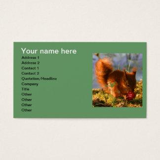 Te amo fresa tarjetas de visita