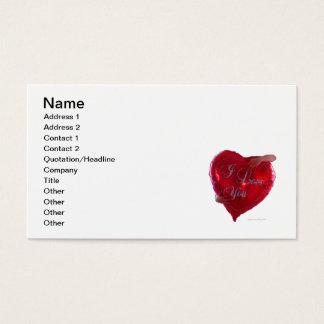 Te amo globo tarjetas de visita
