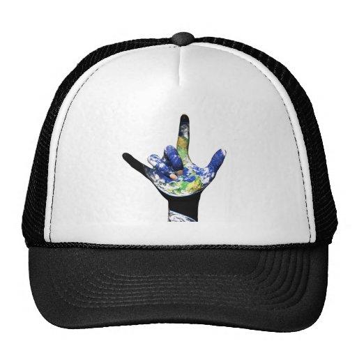Te amo gorra de la tierra del planeta