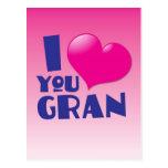 ¡Te amo Gran! Tarjeta Postal