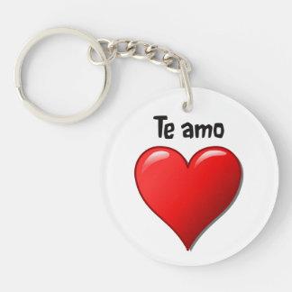 Te amo - I love you in Spanish Keychain
