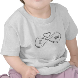 Te amo infinitamente camisetas