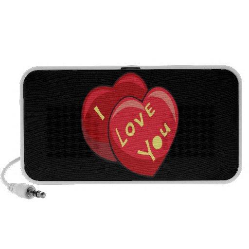 Te amo iPod altavoces